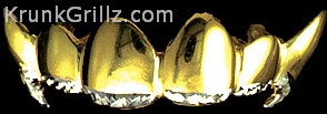 Fang & Diamond Cut Edge Grillz