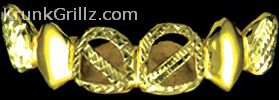 Diamond-Cut Cutout Straps Grillz Grillz