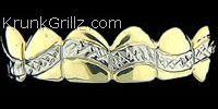 Wave Diamond Cut Grillz Grillz