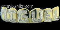Diamond Cut Letters Grillz Grillz