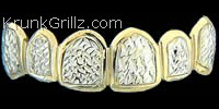 Border Diamond Cut Grillz
