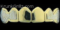 Side Border Diamond Cut Grillz Grillz
