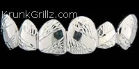 Polished Band Diamond Cut Grillz Grillz