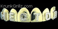 Raised Name Grillz