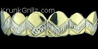 V Diamond Cut Grillz Grillz