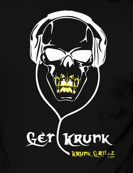 T-Shirt Black Get Krunk Grillz