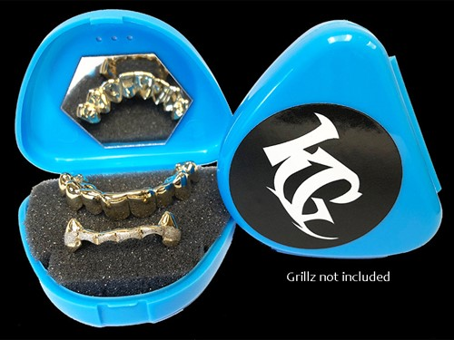 Blue Grillz Case Grillz