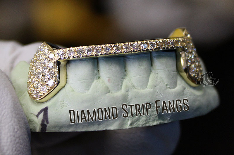 Custom Hip Hop Teeth Grillz Caps Top /& Bottom Iced Out Grill Fang Mold Set