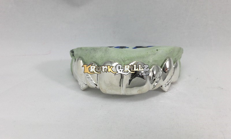 Grillz Solid Golds with Band Kuts and Fangs Custom 4