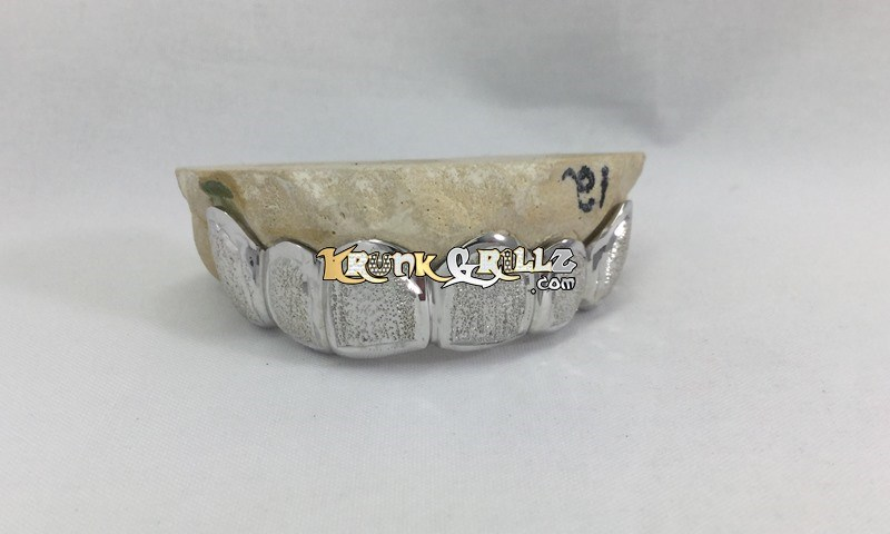 silver grillz diamond dust